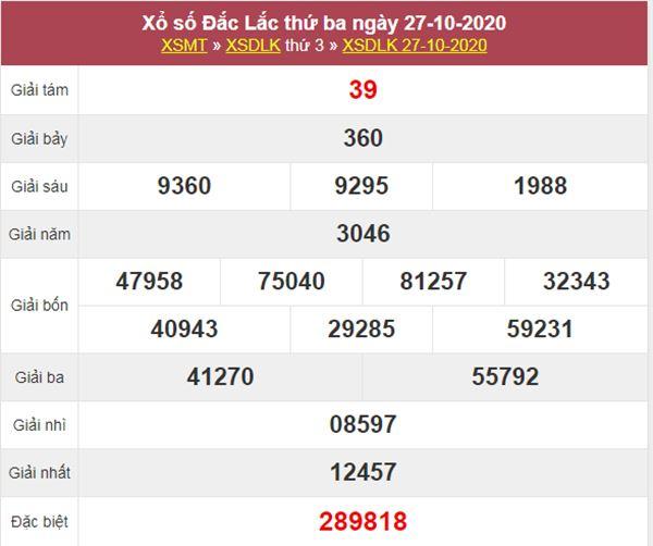 Phân tích XSDLK 3/11/2020 chốt KQXS ĐăkLắc thứ 3