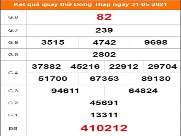 Quay thử xổ số Đồng Tháp ngày 31/5/2021